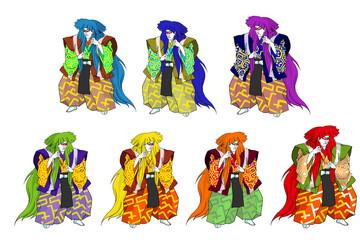 カラフル歌舞伎セット
