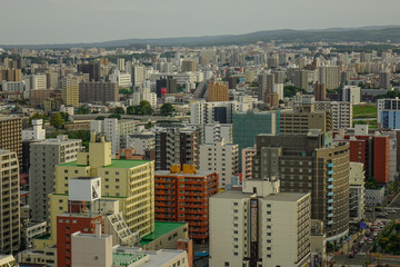 Aerial view of Sapporo, Japan