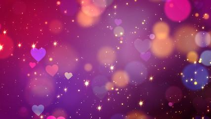 Colorful Valentine Background.