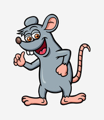 Rat or mouse animal cartoon character illustration. Good use for mascot, logo, icon, sign, sticker or any design you want.