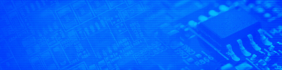 Blue cyberspace background