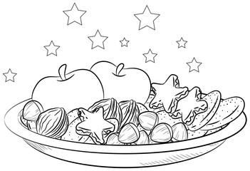 Weihnachtsteller - Vektor-Illustration