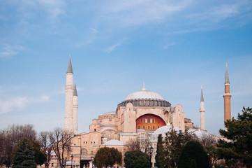 Beautiful evening at Hagia Sophia Istanbul, Turkey
