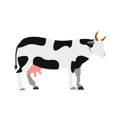 Cow icon, flat style