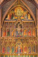 Wall Mural - LONDON, GREAT BRITAIN - SEPTEMBER 15, 2017:  The neo gothic main altar in church All Saints by Ninian Comper (1864 - 1960).