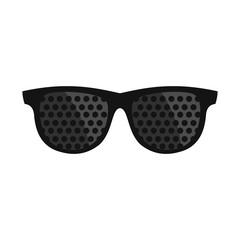 Bifocals icon, flat style