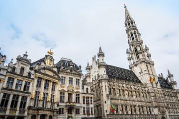 antique church building in Brussels, Belgium Europe