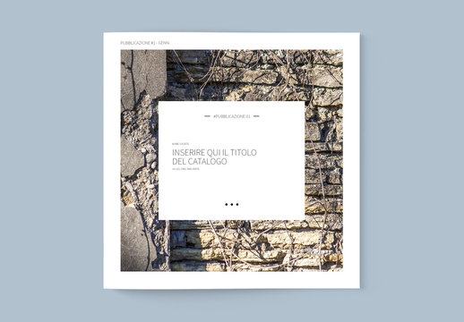 Layout catalogo quadrato