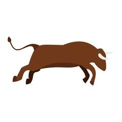 Bull icon, flat style