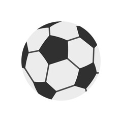 Soccer ball icon, flat style