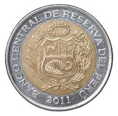 Peruvian soles coin