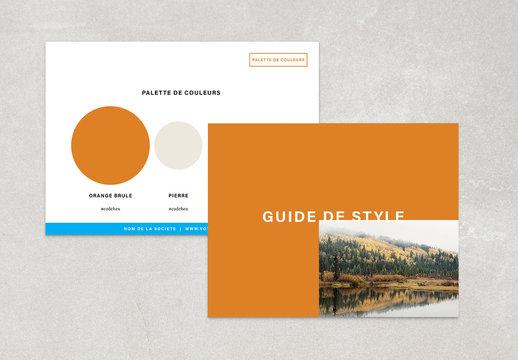 Mise en page basique de guide de style