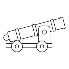 Cannon icon, outline style