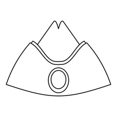 Forage cap icon, outline style