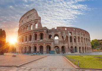 Poster Rome Colosseum amphitheater in Rome