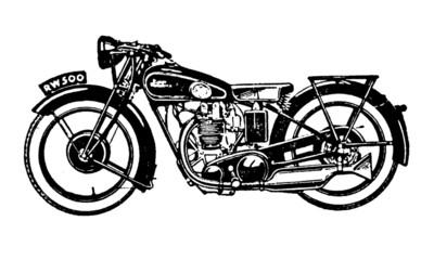 Vintage Motorbike Illustration