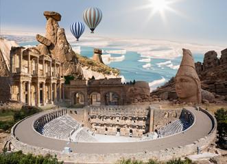 Major tourism centers in Turkey - Cappadocia, Nemrut, Pamukkale, Ephesus, Aspendos