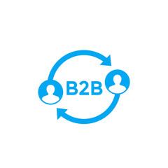 b2b vector icon on white
