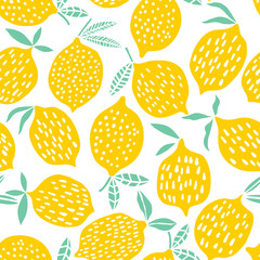 Lamas personalizadas para cocina con tu foto Lemon seamless pattern vector illustration. Summer design