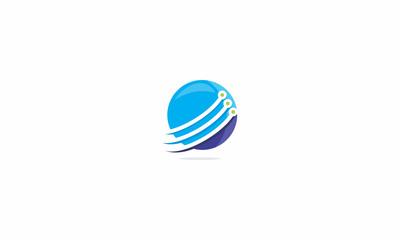 technology, network, computer, digital, world, universal, emblem symbol icon vector logo