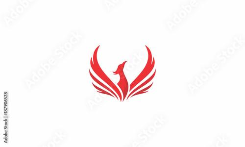 Phoenix Bird Fire Fly Emblem Symbol Icon Vector Logo