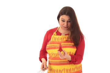 female cook with red pepper