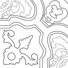 Portuguese tiles pattern. Vintage background. Vector texture