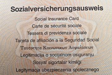 Sozialversicherungsausweis