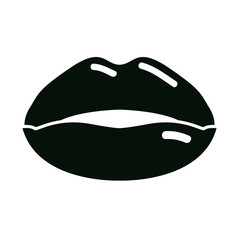 plump lips with gloss icon