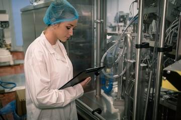 Female worker monitoring machine