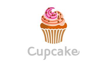 Cupcake Delicious Logo Design Symbol Illustration