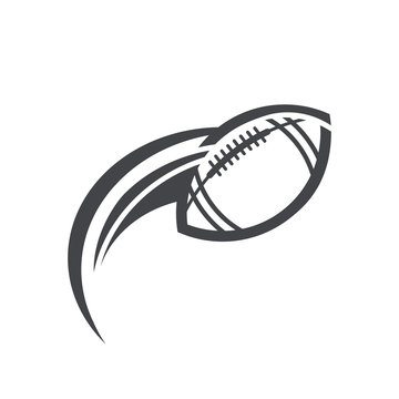 Swoosh American Football Logo Icon