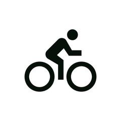 man cycling icon