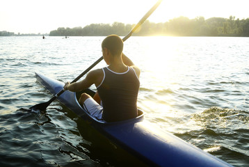 Rowingon sunny day