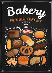 Bakery Chalkboard Illustration