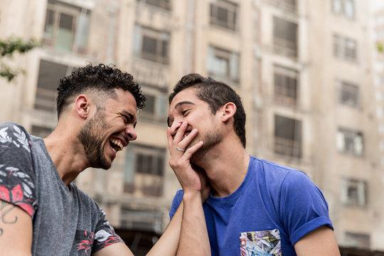 Gay Couple Playing and Having Fun