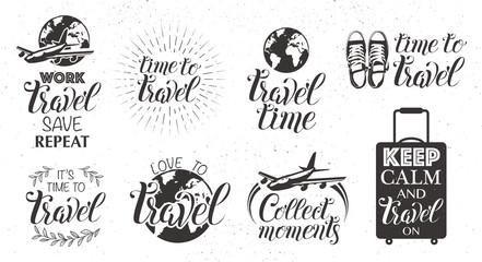 Travel set icons
