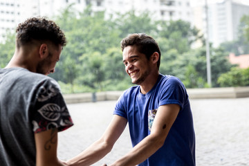 Homosexual Couple Having Fun - Holding Hands