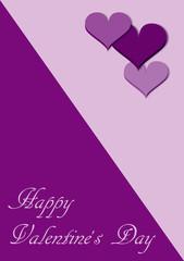 Valentinskarte in verschiedenen violett Tönen mit Text. vektor Illustration
