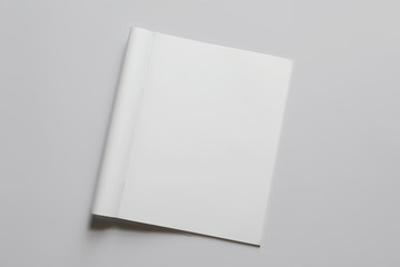 Mock up of brochure on white background