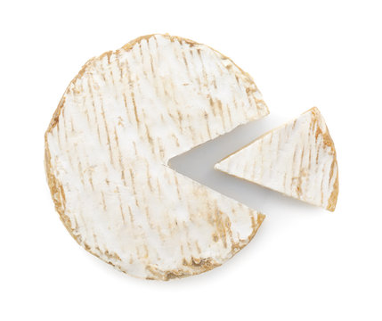Delicious cheese on white background