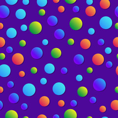 Abstract geometric background. Childish colorful pattern. Bubbles with gradient. Trendy background for childish book