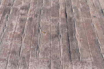 stamped concrete pavement outdoor, Wooden slats pattern, flooring exterior, decorative texture of cement paving Appearing the streaks of wood