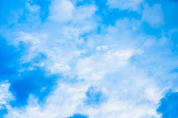 Beautiful blue sky with light cumulus clouds