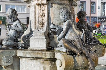 Ganymede's Fountain in Bratislava, Slovakia.