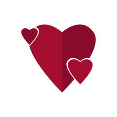 Isolated heart shape
