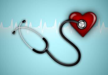 Stethoscope. Healthcare illustration