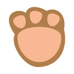 cute footprint teddy icon