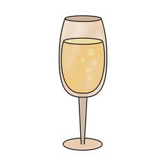 Champagne glass cup icon vector illustration graphic design