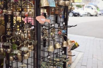 street souvenir shop in korea